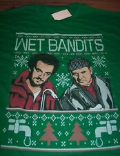 FUNNY HOME ALONE WET BANDITS CHRISTMAS SWEATER STYLE T-Shirt LARGE NEW w/ TAG