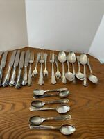 Vintage Germany Solingen Rostfrei Silver Plate Flatware Knife Fork Spoons 24 Pc