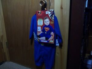 INFANT/TODDLER SUPERMAN COSTUME, NEW. SIZE 2-4, FOR 1-2 YEAR OLD JUMPSUIT & CAPE