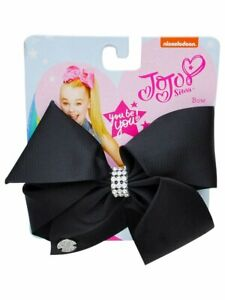 Jojo Siwa Black Hair Bow with Rhinestone