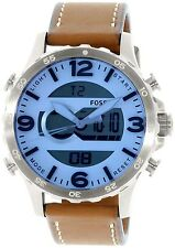 Fossil Mens Nate JR1492 Brown Leather Quartz Fashion Watch