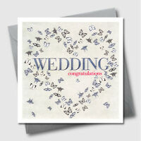 Greetings Cards - Engaged Heart - Luxury Embossed Engagement Greeting Card