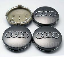 4x 60mm Audi Wheel Center Caps Emblem- Wheel Cover Hub 4B0 601 170  4B0601170