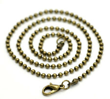 """Antique Bronze Lobster Clasp Ball(2.4mm) Chain  51cm(20-1/8""""), pack of 12 SP0280"""