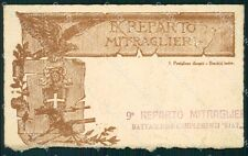 Militari IX Reparto Mitraglieri Battaglione Complementi Fiat cartolina XF0647