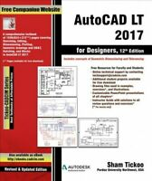 Autocad Lt 2017 for Designers, Digital Download by Tickoo, Sham, Like New Use...