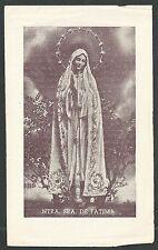 Estampa antigua Virgen de Fatima andachtsbild santino holy card santini