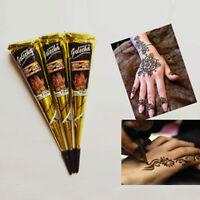 New FashionHenna natural jet black plant Henna tattoo paste into the dark Deluxe
