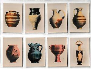 8 Millhoff De Reszke Cigarette Cards Antique Pottery 1927 No's 1 3 4 5 6 7 8 11