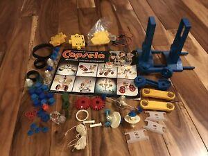VTG Lot of 52 Pc Capsela Building Set Parts Land  Water Pieces & Motorized Parts