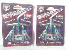 2 Packs Vip The Veteran Broadhead arrow heads 100 Grains Asv100 Brand New
