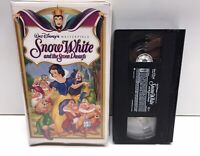 Snow White And The Seven Dwarfs Disney 1524 Masterpiece Collection Clamshell VHS