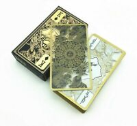 High Quality Waterproof Transparent Plastic Poker Gold Edge Playing Cards Dragon