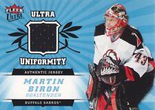 2006-07 Fleer Ultra Hockey Uniformity JERSEY #U-MB Martin Biron Buffalo Sabres
