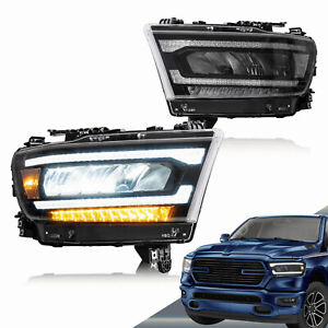LED Scheinwerfer mit 2019-21 Dodge Ram 1500 Tradesman Bighorn Laramie Rebel Paar