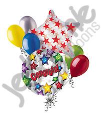 7 pc Congrats Colorful Stars Balloon Bouquet Appreciation Teacher Boss Assistant