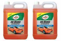 Turtle Wax Big Orange Car Shampoo Cleans with Streak Free Finish 2 x 5 Litre