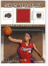 SHAUN LIVINGSTON JERSEY ROOKIE SERIAL #1/50 1/1 2004-05 SKYBOX LIMTED WARRIORS