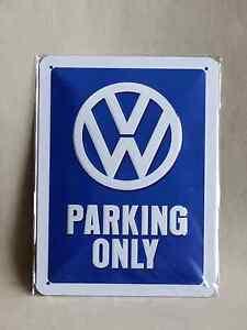 Blechschild VW Parking Only  15 x 20 cm Volkswagen Golf Käfer Bulli  NEU/OVP