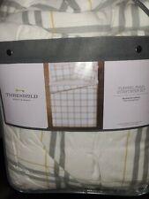 Queen/ Full Flannel Plaid Comforter & Sham Set Cream/Gray - Threshold