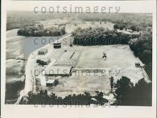 1936 Aerial Sewage Treatment Plant Durham North Carolina Press Photo
