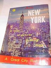 1966 Nester's New York A Great City Illustrated Booklet Centerfold Skyline Photo