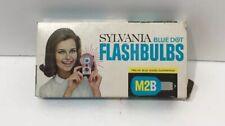 SYLVANIA FLASHBULBS, M2B BLUE DOT BOX OF 12 BULBS MADE IN USA VINTAGE
