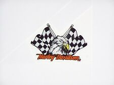 HARLEY DAVIDSON Motorcycles EAGLE Flags IN Window Glass Windshield Decal Sticker