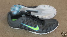 Excellent Nike black w/ neon green swoosh track cleats / spikes, mens 9