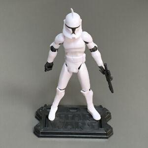 "3.75"" Star Wars No. 5 Clone Trooper w/ Base The Clone Wars Figure Toy Gift Rare"