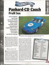 FICHE DESCRIPTIVE - TECHNIQUE - LA PANHARD-CD COACH DE 1962
