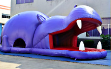 38x22x15 Commercial Inflatable Hippo Bounce House Slide Zoo Castle Moonwalk Jump