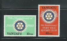 Vanuatu Scott # 293-294 MNH Rotary International 75th Anniversary