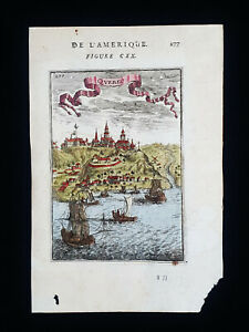 1683 A.M.MALLET: North America, Quebec City, Canada, New Brunswick, St. Lawrence