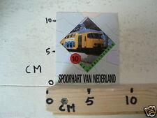 STICKER,DECAL NS DE DUBBELDEKKER TREIN NO 10 SPOORHART VAN NEDERLAND