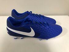Nike Size 12 Tiempo Legend 8 Elite Fg Soccer Cleats Mens Blue/White AT5292-414
