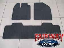 11 thru 15 Lincoln MKX OEM Factory Black Rubber All Weather Floor Mat Set 3-pc
