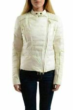 Just Cavalli Women's White Insulated Full Zip Parka Jacket US S IT 40