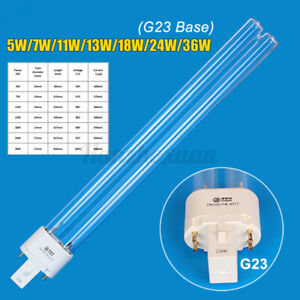 JEBO G23 5W-36W Aquarium Tank Fish Pond UV Sterilizer Light Lamp Bulb Tube UK