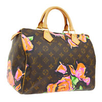 AUTHENTIC LOUIS VUITTON SPEEDY 30 HAND BAG MONOGRAM ROSE M48610 SP4098 AK41294
