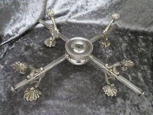 Antique Georgian Silver P. Folding Dish Cross with integral burner