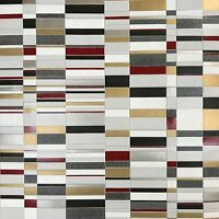 Wallpaper Textured Metallic Modern Wall coverings Roll 3D Silver gold gray Tiles
