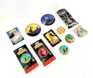 1990s Disney Pocahontas John Smith Flit Button PinVintage Set Lot Movie Promo