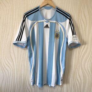 ARGENTINA 2006 2008 HOME FOOTBALL SHIRT SOCCER JERSEY ADIDAS 739802
