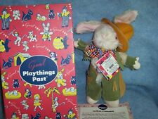 12 inch Cowboy Rabbit by Gund, Playthings Past, Reproduction 1937