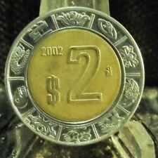 CIRCULATED 2002 2 PESOS MEXICAN COIN (80819)1...FREE DOMESTIC SHIPPING!!