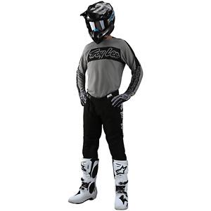 Troy Lee Designs Gear Combo TLD MX Motocross Gear SE PRO Pants Jersey VOX GRAY