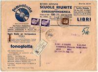 Regno - Coppia 7½ Imperiale + annullo Scuole riunite su busta raccomandata, 1934