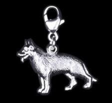 925 ECHT SILBER 🐾 Anhänger Einhänger Schlüsselanhänger Charm Hund Schäferhund
