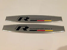 VW R-LINE CHROME WING DOOR BADGE EMBLEM POLO GTD GOLF JETTA TSI GTI TDI PASSAT